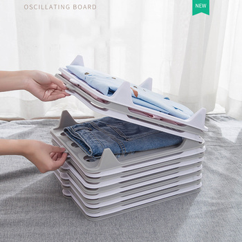 Newest Clothes Folding Board T Shirts Folder Easy And Fast For Kid Adult To Fold Clothes Dividers Folding Board Closet Organizer 10pcs set creative plastic clothes folding pant folder clothes closet fast speed fold organize storage lazy stacking cloth board