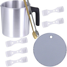 Diy Candle Making Kits 2lb Candle Melting Pot With Heat-resisting Handle 2pcs Mixing Tools And 1pc Candle Wick Centering Device