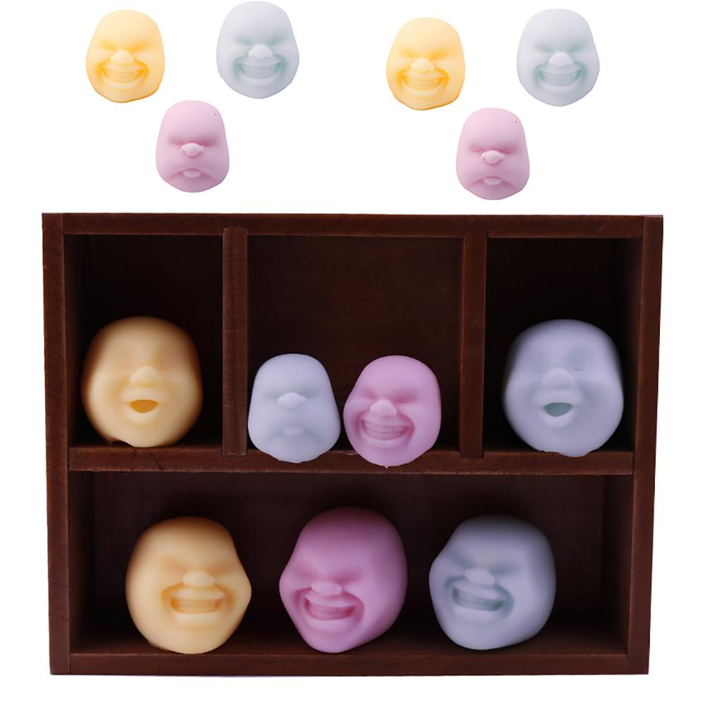 Adults Kids Human Face Ball Vent Toy Squeeze Emotion Vent Toys Stress Reliever Squeeze Anti Stress Toy Sent By Random