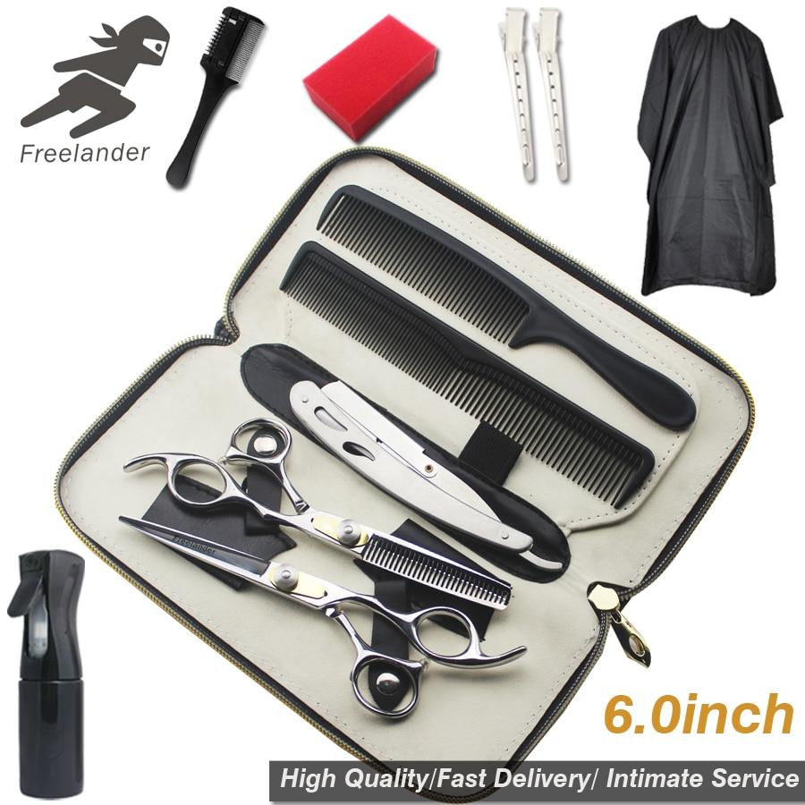 "6.0""Sale Silver Japanese Hair Scissors   Hairdressing Scissors Thinning Shears Hairdresser Shaver Haircut"