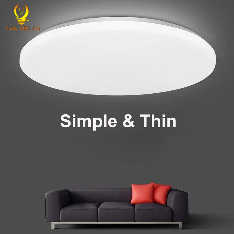 Panel de luz LED lámparas de Painel luces de techo Led 220V 30W 50W lámpara de accesorios de iluminación redonda para cocina interior iluminación del hogar