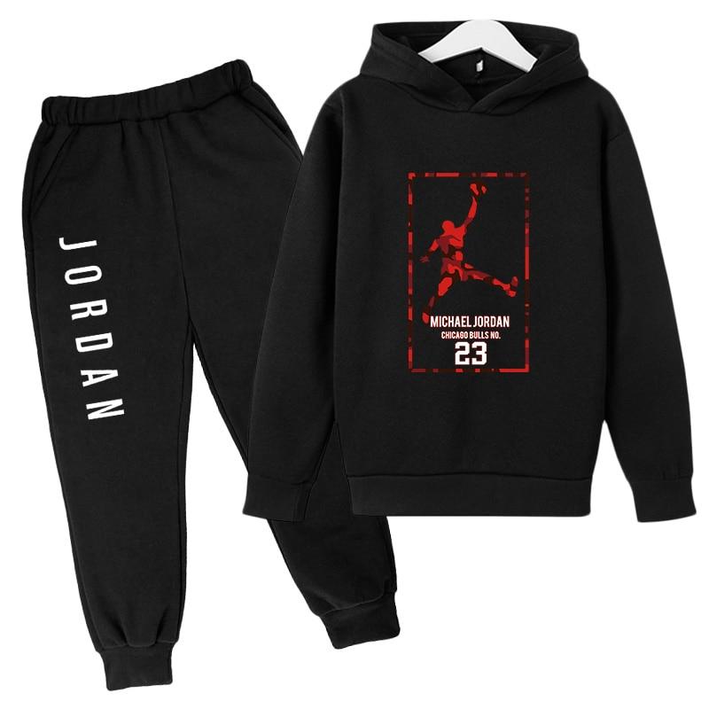 Kids Clothes Strange Things Basketball Prince No. 23 Jersey + Pants Print Women's Hoodie Autumn Two-piece Super Sweatshirt Kids
