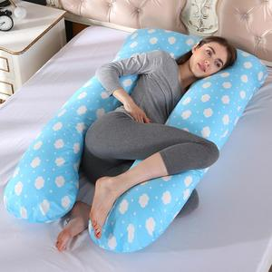 Image 2 - Sleeping Support Pillow For Pregnant Women Body PW12 100% Cotton Rabbit Print U Shape Maternity Pillows Pregnancy Side Sleepers