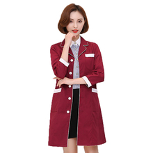 medical gown Overalls spa uniform Ladies Medical Robe Medical Lab Coat Hospital Doctor Nurse Korea uniform pharmacy clothing