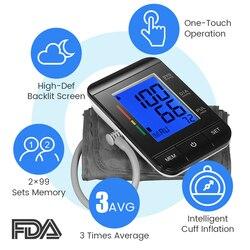Digital Upper Arm Blood Pressure Monitor Automatic Tonometer Blood Pressure Meter Sphygmomanometer Pulse Heart Beat Rate Meter