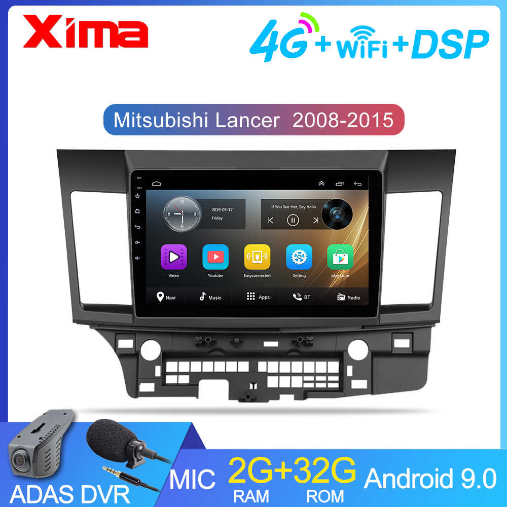 10 Inch 2din Mobil Android 9.0 Car Multimedia Player For Mitsubishi Lancer 2008-2009-2010 2016 Mobil Radio GPS navigasi DVD Playe