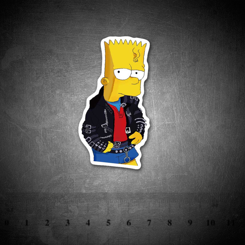 Cartoon Simpson Stickers Funny For Kids Laptop Car Guitar Luggage Skateboard Bicycle Waterproof PVC Stickers