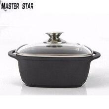 Master Star чугунная кастрюля 22 см черный суповый горшок утолщенный Алюминиевый горшок Газовая плита антипригарная Кухонная Посуда Прямая поставка