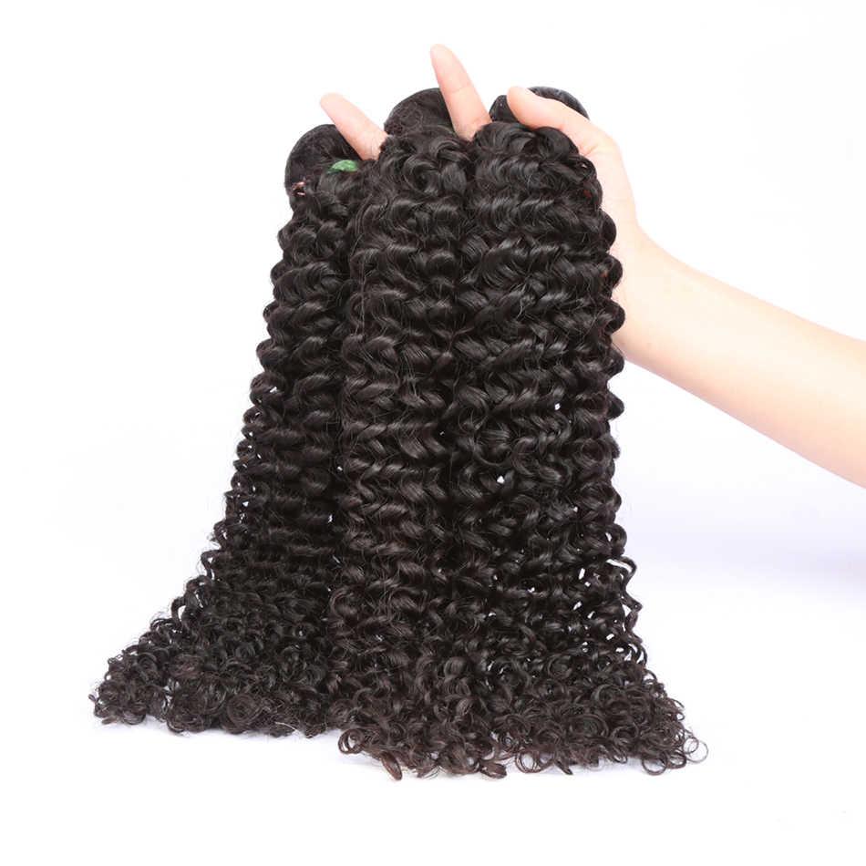 28 30 Inch Kinky Krullend Bundels Deals 1 3 4 Bundels 100% Human Hair Extensions Peruaanse Haar Weave Human Hair bundels Remy