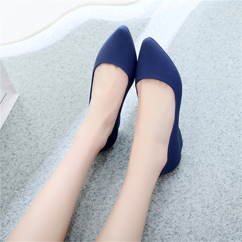 Elegant Women's Frosted Surface Shallow Wedge Single Shoes 1