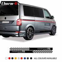 2 шт., наклейки в полоску для Volkswagen VW Transporter Multivan T5 T6, ограниченная серия, автомобильные аксессуары