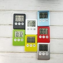 7 цветов кухонный таймер для приготовления пищи с ЖК-цифровым экраном кухонный таймер квадратный Таймер Будильник прямого и обратного счета таймер 5,3x7 см