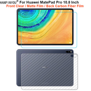 "For Huawei MatePad Pro 5G 10.8"" Front Slim Soft Clear / Matte No Fingerprint Screen Protector / Back Carbon Fiber Sticker Film(China)"