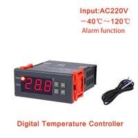 Mh1210b ac220v 디지털 온도 조절기 전자 온도 조절 테이블 냉동 가열 컨트롤러 열 조절기