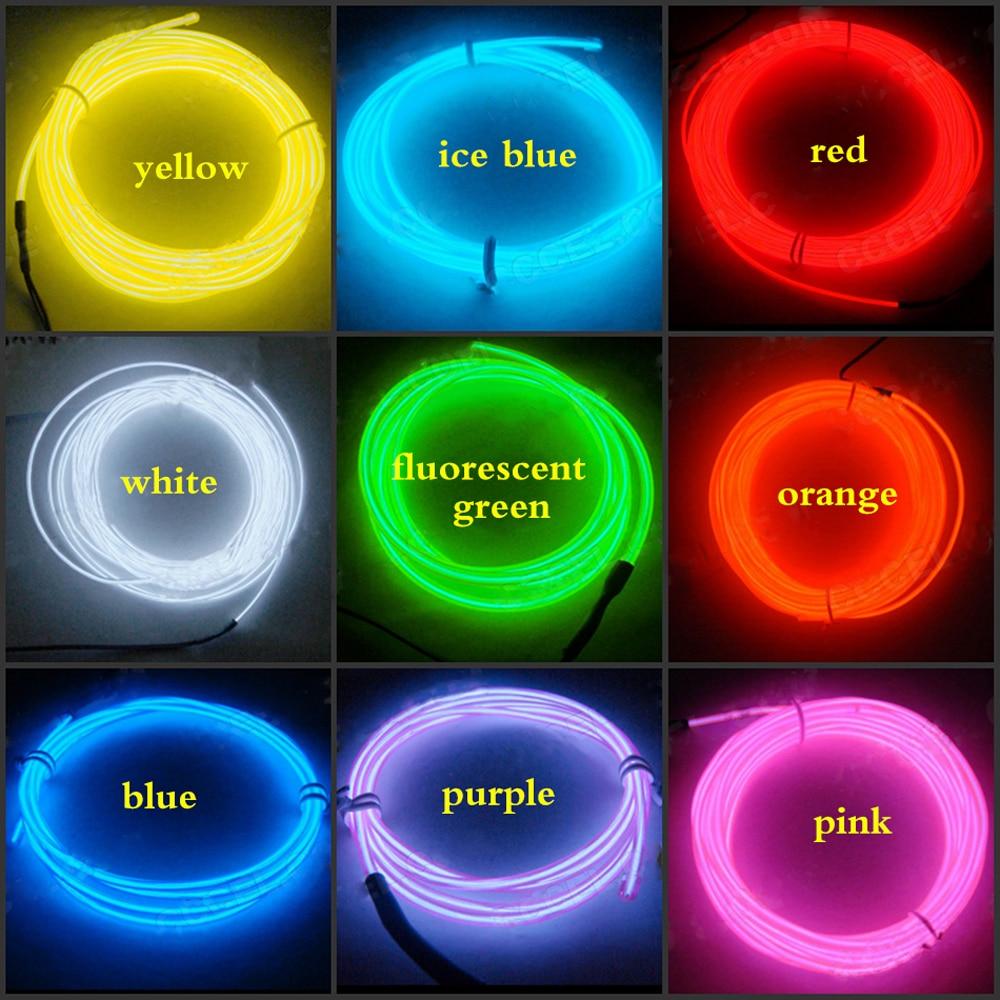Neon De Decoration Interieur us $3.9 |el wire 1m/driver/inverter flexible neon light glow rope light  strip stage car decoration waterproof led strip lamp|led strips| | -