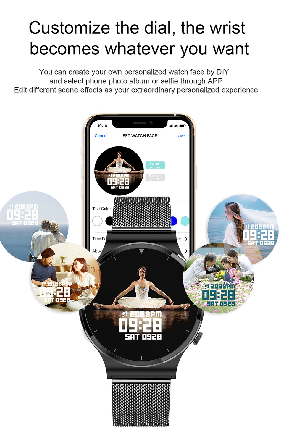 He3bd412d481946788db71ac8b8604972E LIGE New Smart watch Men Heart rate Blood pressure Full touch screen sports Fitness watch Bluetooth for Android iOS smart watch