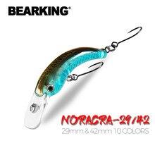 BEARKING-leurre méné rigide pour la pêche en eau douce, appât artificiel Wobbler pour la truite, crackbait, 29mm, 42mm