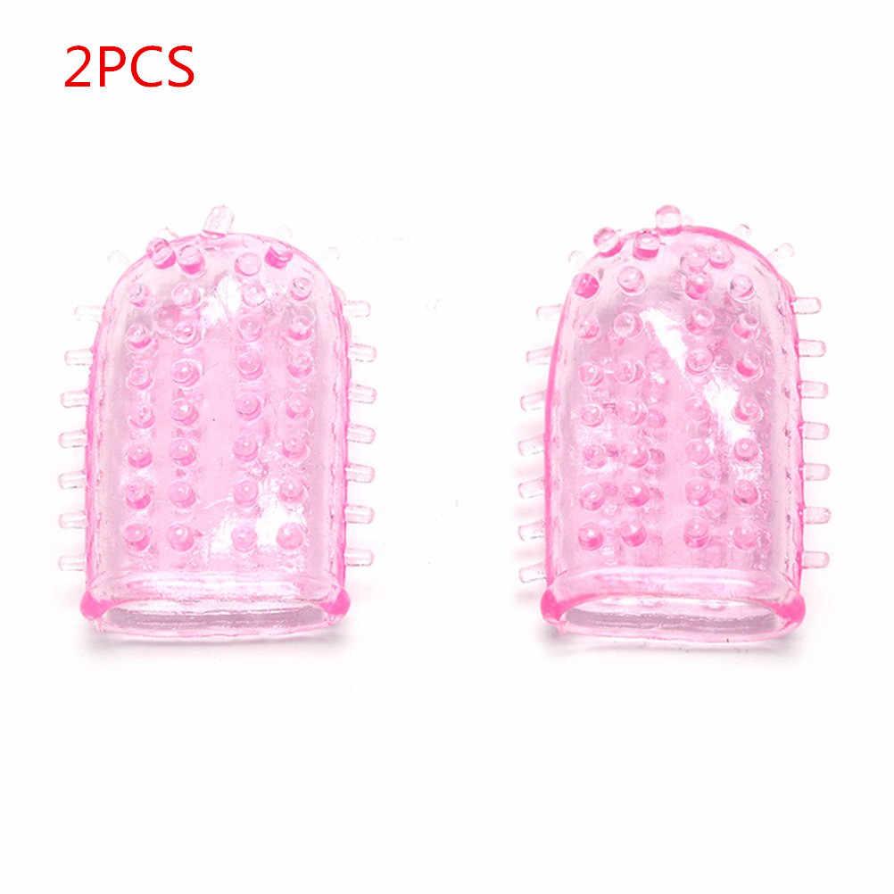 1/2 Buah Dapat Digunakan Kembali Silikon Kondom Waktu Tunda Kristal Penis Cincin Penis Pria Ekstensi Lengan Cincin Ayam Seks Dewasa mainan untuk Pria