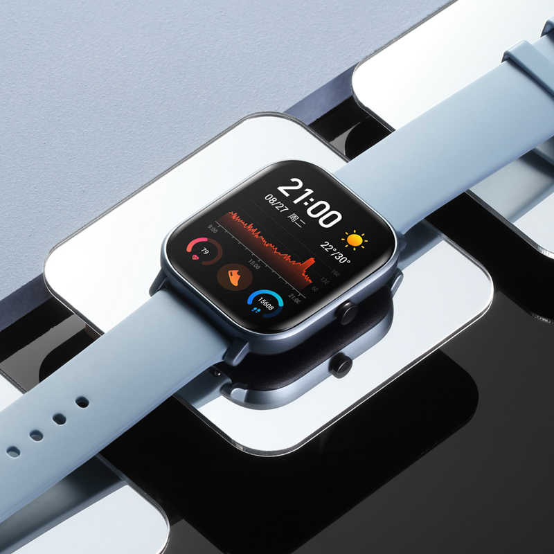 הגלובלי גרסה חדש Amazfit GTS חכם שעון 5ATM עמיד למים Smartwatch 14 ימים סוללה ריצה AMOLED Amazfit ביפ שדרוג