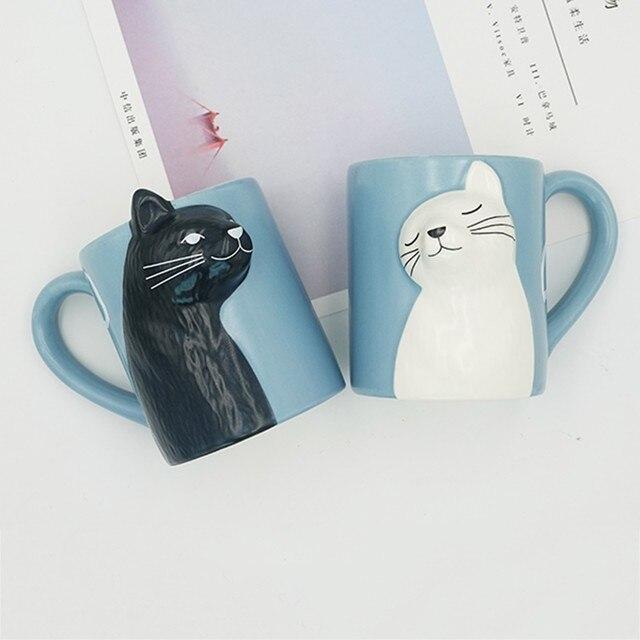 Cat Coffee Couple Mug set 3