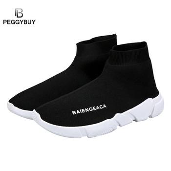 Fashion Sneakers Women Trainers Casual Slip On Socks Shoes Summer Women Vulcanized Shoe Sport Students Girl Ankle Boots Shoes 1
