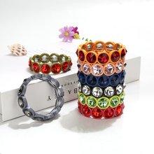 Новые модные эластичные растягивающиеся металлические браслеты