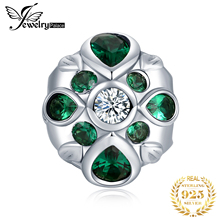 JewelryPalace Flower 925 Sterling Silver Beads Charms Original Fit Bracelet original Jewelry for Women