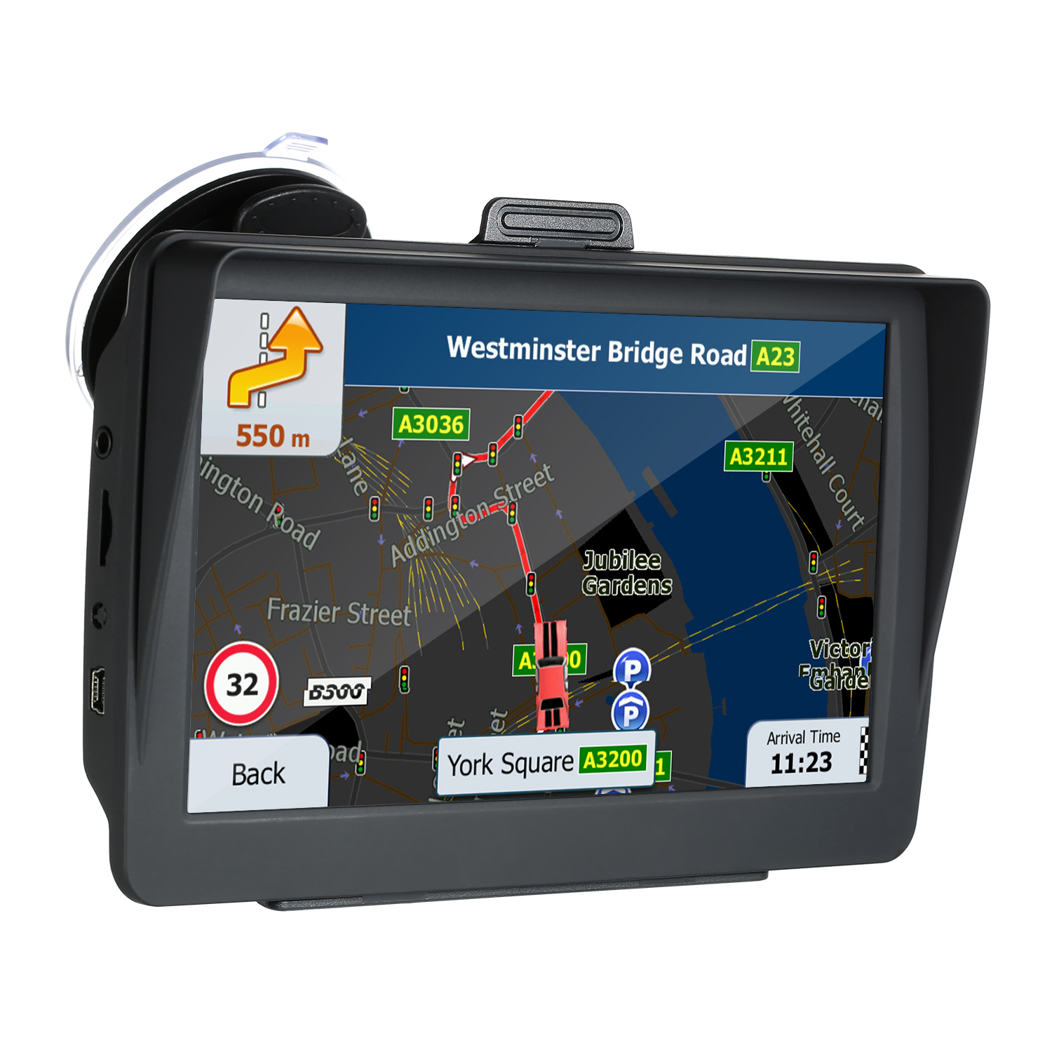 Car GPS Navigation North-America Europe Touchscreen Automobile Fm-Transmitter Map HD title=