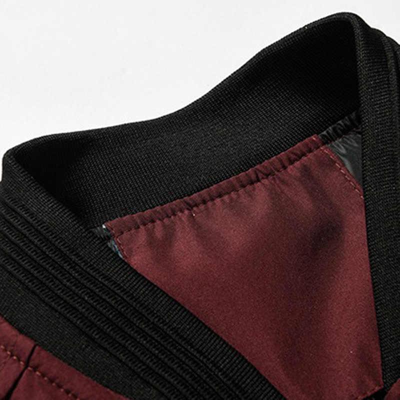플러스 사이즈 5XL 6XL 남성 폭격기 재킷 캐주얼 봄 남성 힙합 재킷 Streetwear 파일럿 폭격기 재킷 솔리드 컬러 남성 의류
