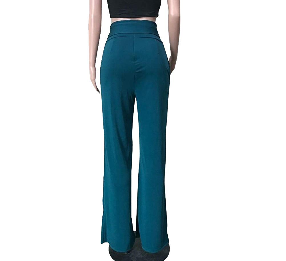 15 Pieces Womens High Long Wide Leg Trousers With Belt2019 Cargo Pants  Overalls  Straight