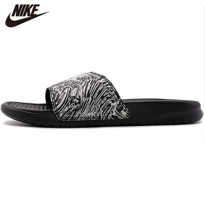 Original Nike Benassi Just Do It Print Men's Slide Outdoor Sandals