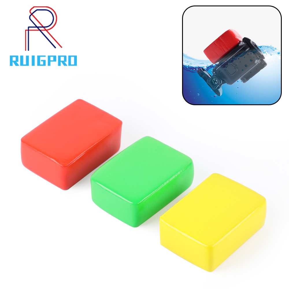 Three colors Floaty Sponge High Quality Float + 3M Adhesive Sticker For GoPro Hero  7/6/5/4/3+/3/2/1 Mayitr