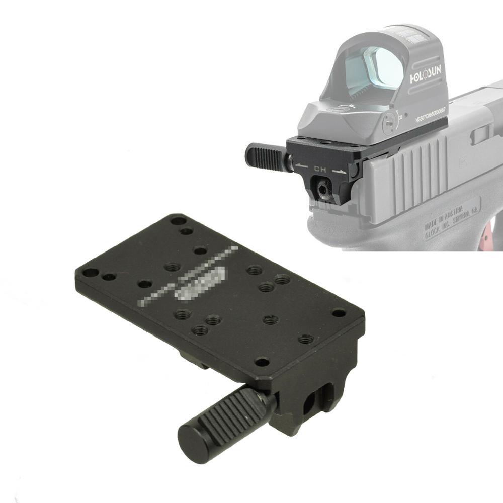 Glock 17 19 22 23 Rear Sight Mount Plate Base Mount Fit Universal Red Dot Sight Pistol Accessories For Venom And Viper RMR