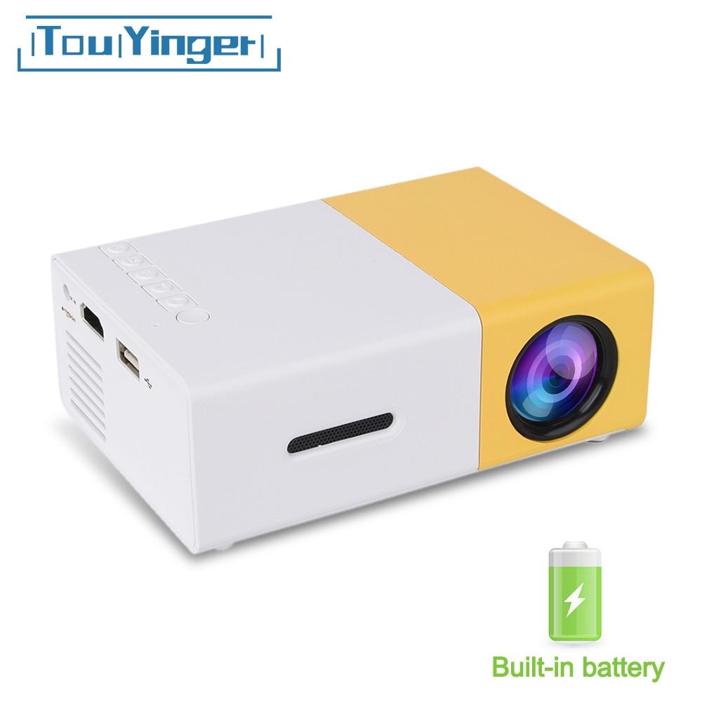 Touyinger YG-300 yg 300 Mini Portable poche projecteur LED Beamer YG300 YG310 LCD vidéo Proyector cadeau pour enfants HDMI/SD/USB
