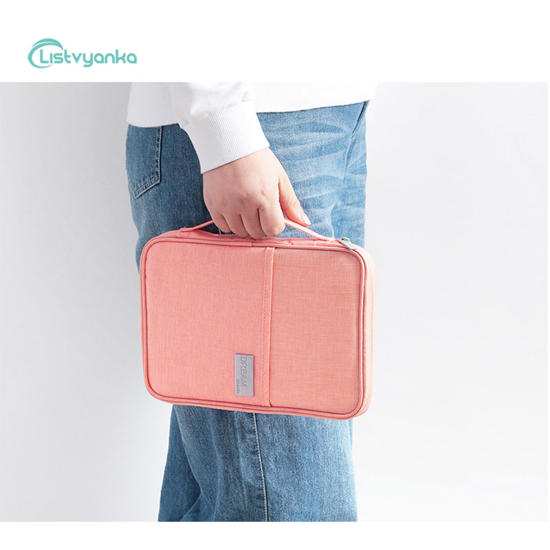 Travel Storage Bag Handbag Luggage Cable Organizer Bag Portable Waterproof Passport Holder Wallet Card Package Document Pouch in Storage Bags from Home Garden