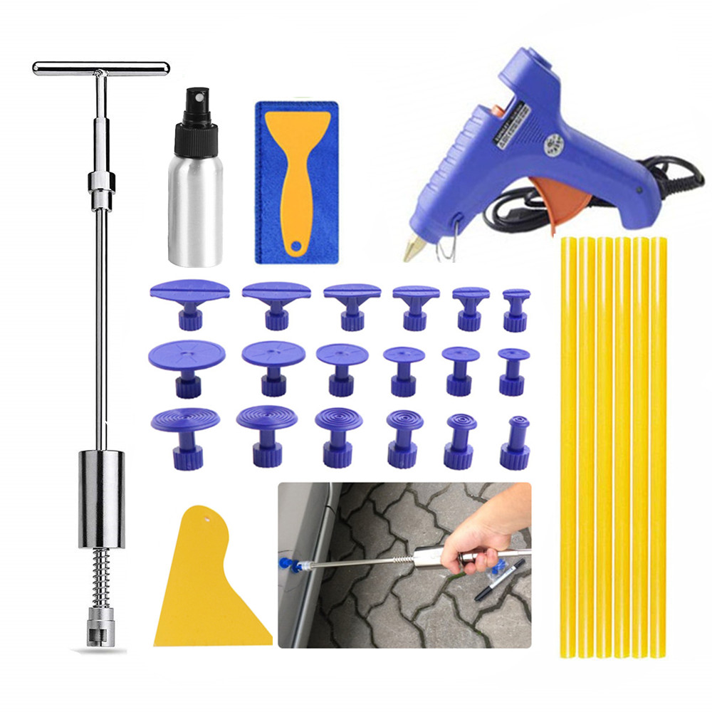 Car Repair Tools PDR Dent Repair Kit Paintless Dent Remover Slide Hammer Glue Tabs For Auto Body Hail Damage
