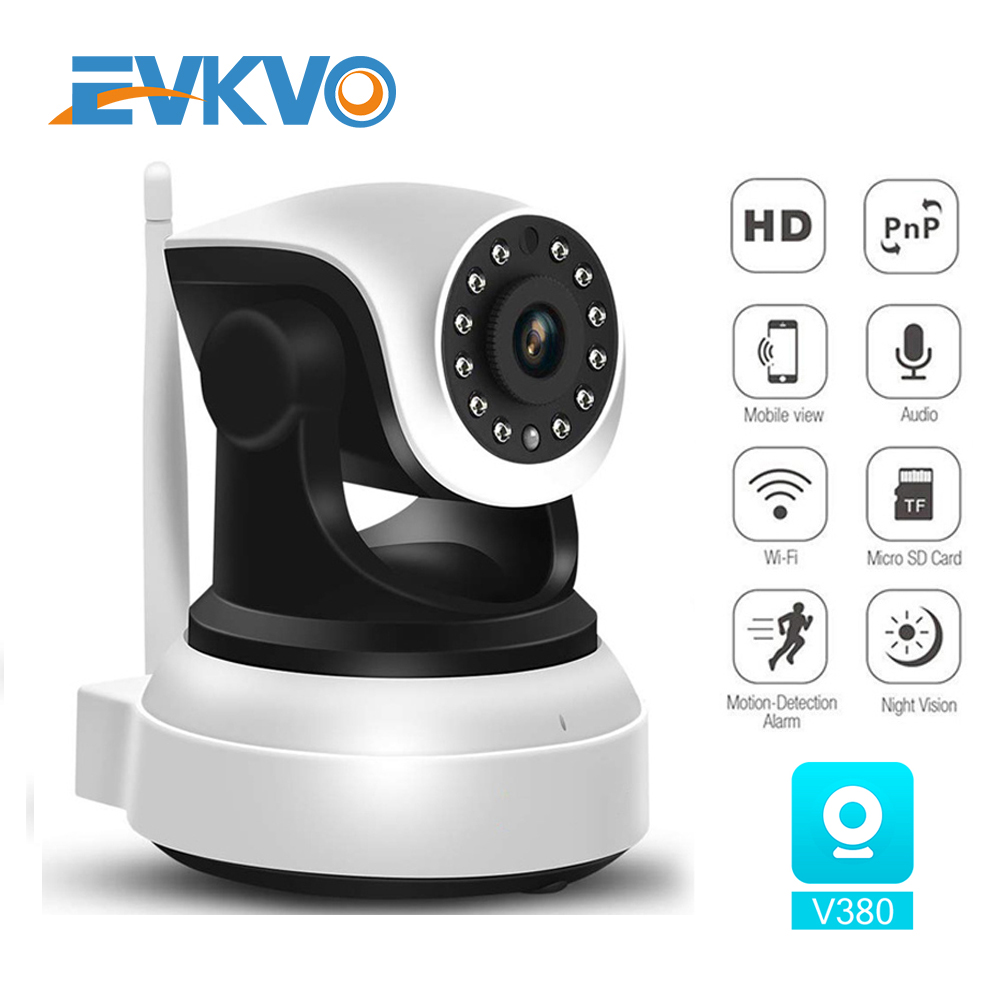 EVKVO 1080P HD Wireless Security IP Camera Wifi Two-Way Audio IR-Cut Night Vision Audio Surveillance Alarm Indoor Baby Monitor