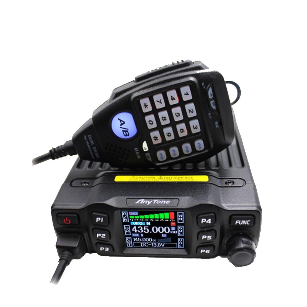 Anytone Transceiver Walkie-Talkie VHF Ham Mobile-Radio UHF Dual-Band 136-174 Mini 25W
