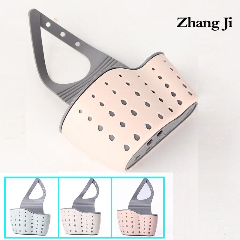 Zhang Ji Kitchen Portable Basket Home Kitchen Hanging Drain Basket Bag Bath Storage Tools Sink Holder Kitchen Accessory Utensils