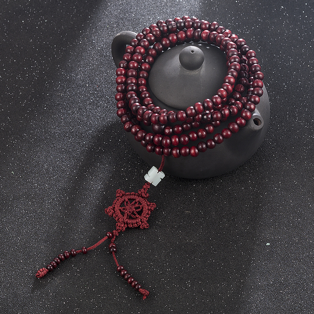 2 Color Natural Fragrant Sandalwood Beads Bracelet Buddhist Meditation Prayer Beads Mala Bracelet Hand Necklace