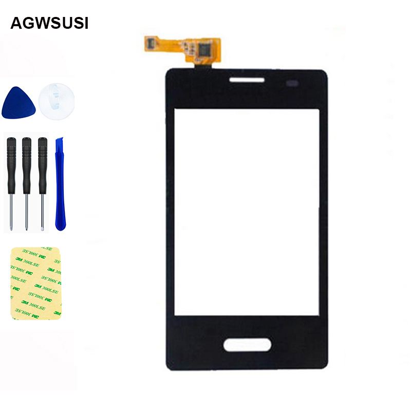 For LG Optimus L3 II E430 E425 Touch Screen Digitizer Sensor Glass Lens Panel Replacement image