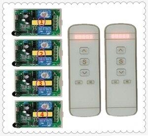 Image 2 - 220V motor garaj kapısı/projeksiyon ekranı/kepenkler AC220V dijital ekran akıllı RF kablosuz uzaktan kumanda anahtarı