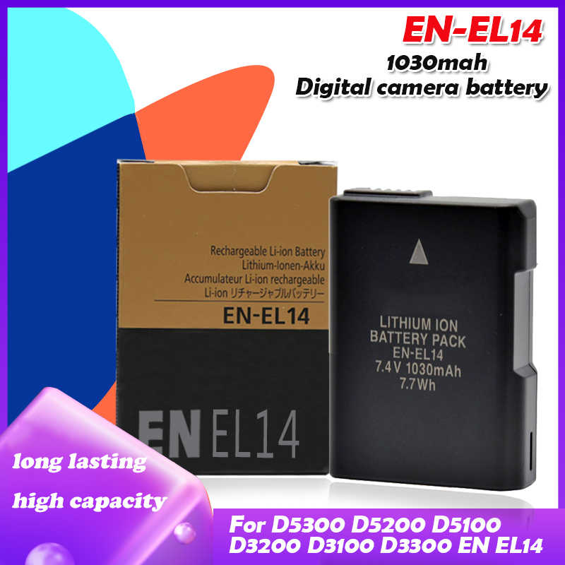 2pcs En El14a Camera Battery For Nikon En El14a En El14 Battery Df D5300 D5200 D5100 D3300 D3200 D3100 P7100 P7700 P7800 P7000 Digital Batteries Aliexpress