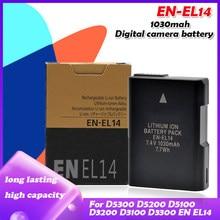 7.4V 1030mah EN-EL14 EN-EL14A ENEL14 kamera pil paketi için Nikon D5300 D5200 D5100 D3200 D3100 D3300 P7000 P7100 p2100 P7700