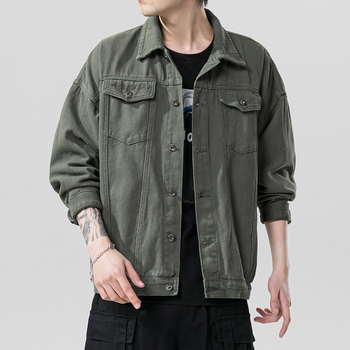 New Fashion Jacket Men Spring Autumn 2020 Japanese Version Big Size Male Original Loose Casual Denim Mens Coat