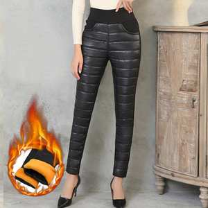 Ski Trousers Down-Pants Snowboard High-Waist Winter Women for Casual Thickening Warm