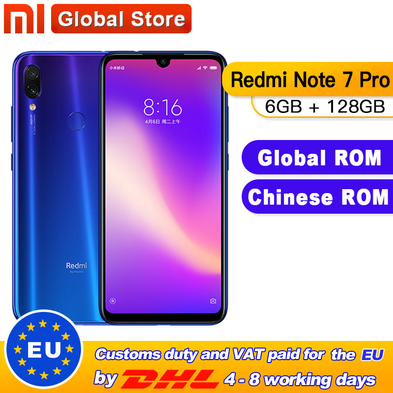 Global ROM Xiaomi Redmi Note 7 Pro 6GB 128GB Smartphone Snapdragon 675 Octa Core 4000mAh 6.3 Water Drop Full Screen 48+13MP