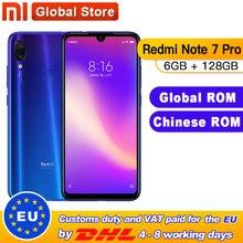 Телефон сотовый Xiaomi Redmi Note 7 Pro, глобальная прошивка, 6 ГБ 128 ГБ, восьмиядерный процессор Snapdragon 675, 4000 мАч, полный экран WaterDrop 6,3 дюйма, 48+13 Мп