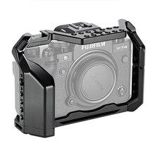 C XT4 kamera Metal kafesi W/ayakkabı montaj FUJIFILM X T4 fotoğrafçılığı video çekim tam kafes mikrofon LED ışık dişli delikleri