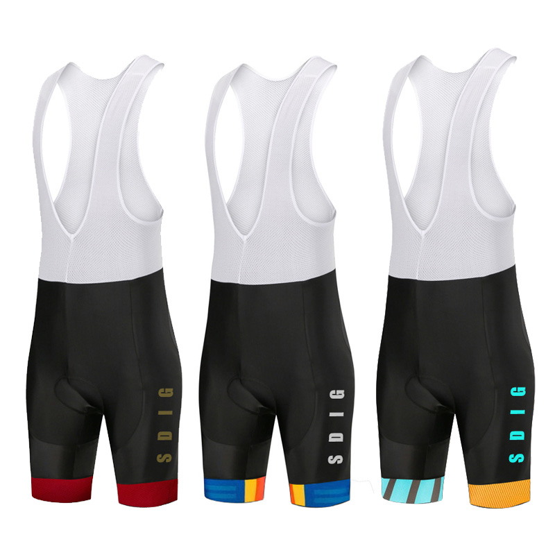 Culotte Ciclismo Hombre SDIG 2020 <font><b>Cycling</b></font> <font><b>Bib</b></font> <font><b>Shorts</b></font> <font><b>Men</b></font> Road Bike Coolmax Padded Mtb High Elastic Tights Breathable Clothing image
